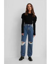 NA-KD - Versleten Jeans - Lyst