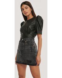 Mango Grey Monica Skirt - Black