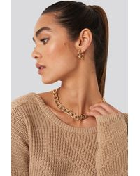 NA-KD Accessories Chunky Chain Necklace - Mettallic