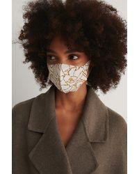 NA-KD Beige 2-pack Blossom Scuba Masks - Natural