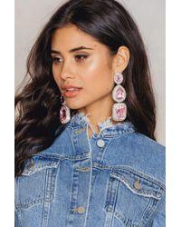 NA-KD - Triple Big Rhinestone Earrings - Lyst