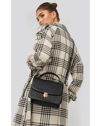NA-KD Quilted Top Handle Bag - Zwart