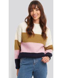 Mango Rainbow Sweater - Blauw