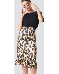 Rut&Circle - Frill Midi Skirt Leopard - Lyst