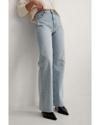 NA-KD Blue Relaxed Full Length Jeans