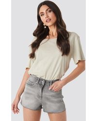 NA-KD - Raw Hem High Waist Shorts - Lyst