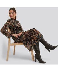 Trendyol - Patterned Midi Dress - Lyst