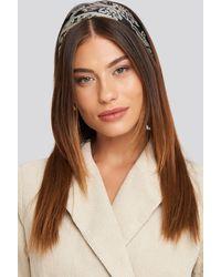 NA-KD Ornament Pattern Hair Scarf - Zwart