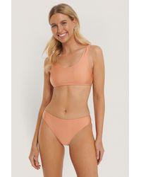 NA-KD Swimwear Sporty Bikini Briefs - Oranje