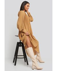 NA-KD Shoes Straight Shaft Knee High Boots - Natur