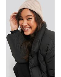 NA-KD Accessories Short Ribbed Beanie - Natur