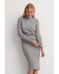 Trendyol Knitted Top Bottom Set - Grijs