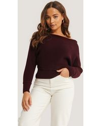 NA-KD - Off Shoulder Knitted Sweater - Lyst