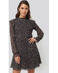 Trendyol Patterned Mini Dress - Schwarz