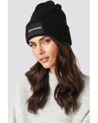 Calvin Klein Black J Institutional Beanie Hat