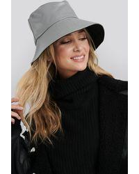 NA-KD Accessories PU Bucket Hat - Grau