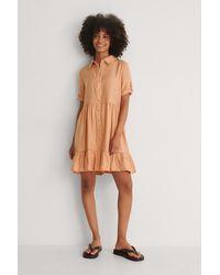 Trendyol Knop Mini-jurk - Oranje