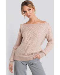 Trendyol Off Shoulder Knitted Sweater - Roze