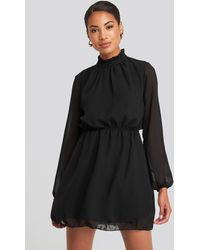 Trendyol Collar Detailed Dress - Zwart