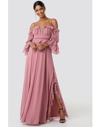 Trendyol Torino Long Dress - Pink
