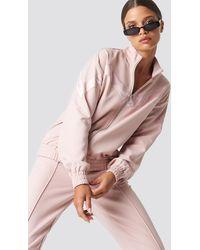 NA-KD Pink V-stripe Tracksuit Jacket