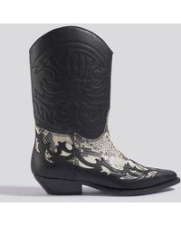 Mango Dalton Ankle Boots - Zwart