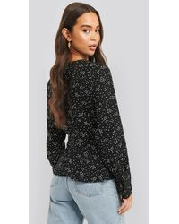 NA-KD - Marked Waist long Sleeve Blouse - Lyst
