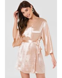 Rut&Circle - Leja Shiny Dress Pastel Pink - Lyst