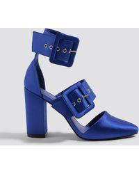 9d1202d7c8914f Lyst - Ted Baker Kerrias Blue Suede Cobalt Block Heel Sandal in Blue