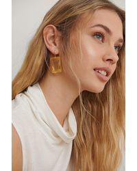 NA-KD Accessories Ohrringe - Gelb