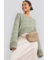 NA-KD Beige Quilted Fanny Pack - Natural