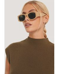 Mango Beige Whity Sunglasses - White