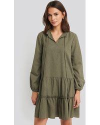Trendyol Ruffle Mini Dress - Groen