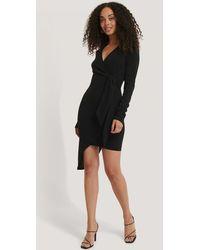 NA-KD - Asymmetric Hem Mini Dress - Lyst