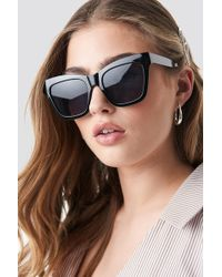 NA-KD Square Shape Chunky Sunglasses Black