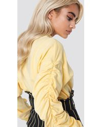 NA-KD - Ruched Sleeve Sweater - Lyst