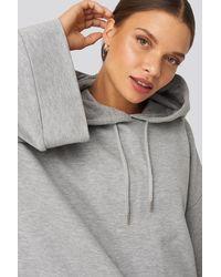 NA-KD Flare Sleeve Hoodie Grey