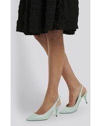Trendyol Classic Heels Buckle Sandal - Blau