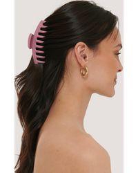 NA-KD Matte Grote Haarclip - Roze