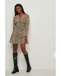 NA-KD Doorzichtige Mini-jurk Met Knopen - Geel
