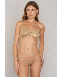 Free People - Shine A Light Undie Gold - Lyst
