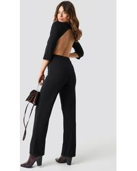 NA-KD Open Back Jumpsuit - Zwart