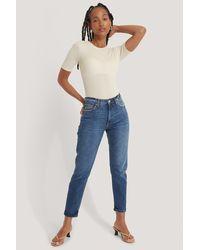 Mango Blue New Mom Jeans