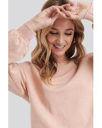 NA-KD Cropped Sweatshirt - Roze