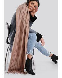 NA-KD Half Striped Soft Scarf - Meerkleurig