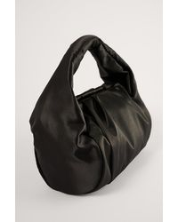 NA-KD Black Short Gathered Handbag