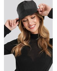 NA-KD Accessories Warm Lined Nylon Bucket Hat - Zwart