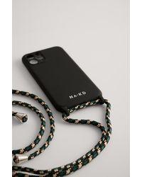 NA-KD Cord Strap Phone Case - Zwart