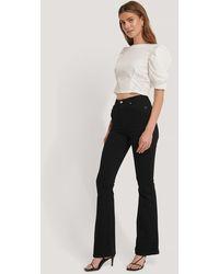Trendyol Uitlopende Jeans Met Hoge Taille - Zwart