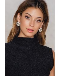 NA-KD | Rhinestone Button Earrings | Lyst